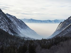 (Rick Egan  |  Tribune file photo)  An inversion over Salt Lake Valley is seen looking west from Little Cottonwood Canyon, in this Dec. 4, 2019, file photo.