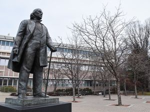 (Francisco Kjolseth  |  Tribune file photo)  Statue of Brigham Young on the BYU campus in Provo in 2018.