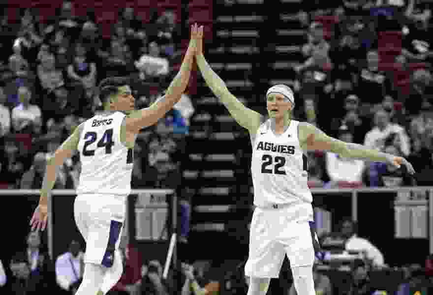 Come NCAA tourney time, teams face a litany of challenges: For eight seed USU, it's Washington's vaunted 2-3 zone