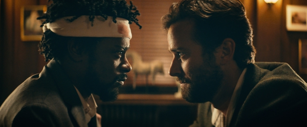 (Annapurna Pictures via Associated Press) Lakeith Stanfield, left, and Armie Hammer in a scene from