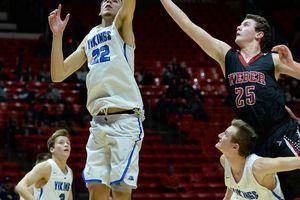 (Francisco Kjolseth  |  The Salt Lake Tribune) Pleasant Grove's Matthew Van Komen (22) scores against Weber during their Class 6A state quarterfinal Thursday at the Huntsman Center.