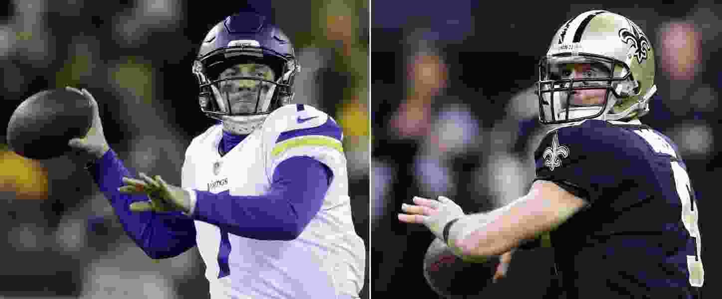 Drew Brees vs. Case Keenum: Will playoff savvy prevail in Saints-Vikings?