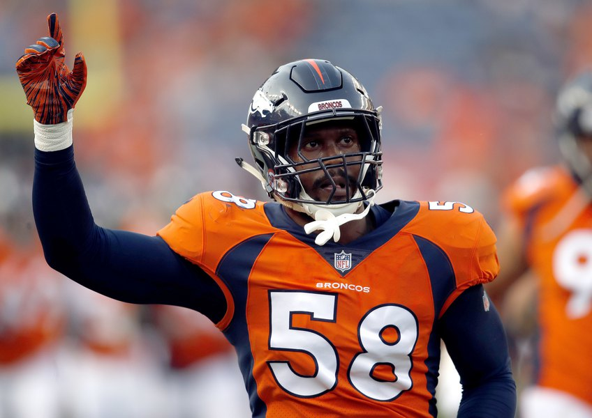 293885f9e14 NFL roundup  Von Miller lifts Broncos over Seahawks - The Salt Lake ...