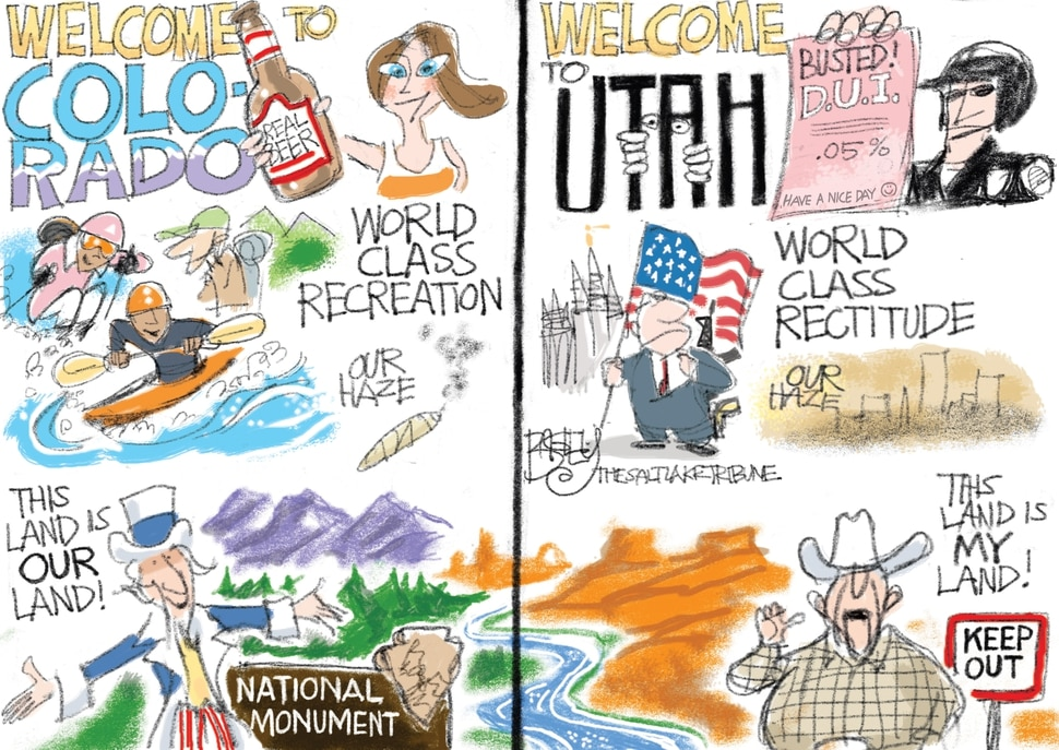 This Pat Bagley cartoon appears in The Salt Lake Tribune on Friday, Jan. 26, 2018