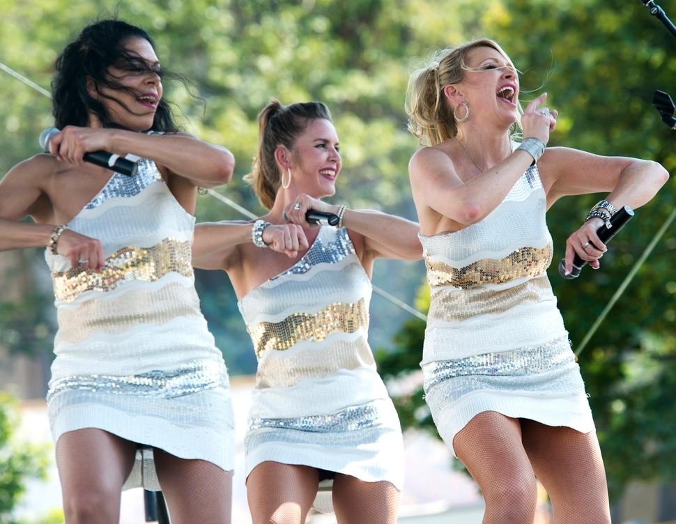 (Rick Egan | The Salt Lake Tribune) Divas through the Decades perform at the Gazebo stage, on opening day of the Utah State Fair, Thursday, Sept. 6, 2018.