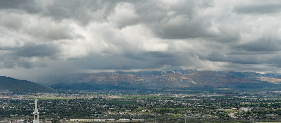 (Francisco Kjolseth | The Salt Lake Tribune) Development continues to creep up against the Oquirrh foothills along the southwest bench in Salt Lake County near Herriman on Friday, May 17, 2019. A flurry of land use planning is underway covering SLCounty's west side, as growth pressure only gets more intense and we head toward a future of wall-to-wall city.