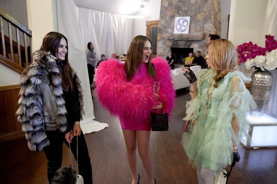 """(Photo courtesy of Fred Hayes/Bravo) Lisa Barlow, Meredith Marks and Mary Cosby in """"The Real Housewives of Salt Lake City."""""""
