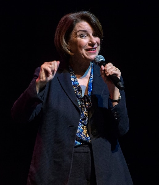 (Rick Egan | The Salt Lake Tribune) Amy Klobuchar speaks at a campaign rally in Salt Lake City on Monday March 2, 2020. She dropped out of the presidential race shortly after the event.