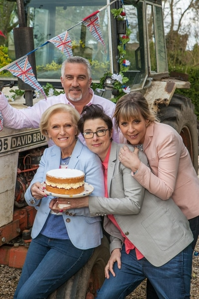 Mark Bourdillon | Love Productions ÒGreat British Baking ShowÓ judges Mary Berry and Paul Hollywood, with Hosts Sue Perkins and Mel Giedroyc.