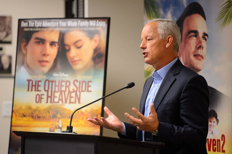(Trent Nelson   The Salt Lake Tribune) Michael Dunn, new managing director of BYU Broadcasting, speaks at a news conference announcing release plans for