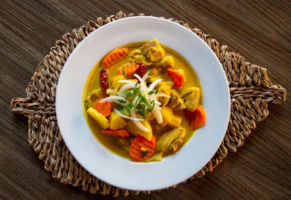 (Rick Egan   The Salt Lake Tribune) Pineapple Curry with Chicken, at Narra Asian Bistro, 6550 S Big Cottonwood Canyon Rd, Tuesday, Feb. 11, 2020.