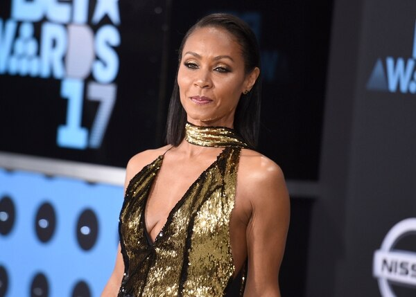FILE - In this June 25, 2017, file photo, Jada Pinkett Smith arrives at the BET Awards at the Microsoft Theater in Los Angeles. Smith told SiriusXM radio in an interview Wednesday, July 19, 2017, that she was a drug dealer when she first met Tupac Shakur in high school in Baltimore in the late 1980s. (Photo by Richard Shotwell/Invision/AP, File)