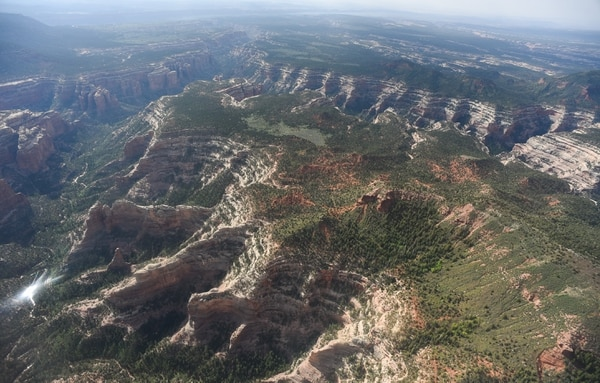 (Francisco Kjolseth   Tribune file photo) Parts of Arch Canyon within Bears Ears National Monument reveal the vast landscape of the 1.35 million acres in southeastern Utah protected by President Barack Obama on Dec. 28, 2016.