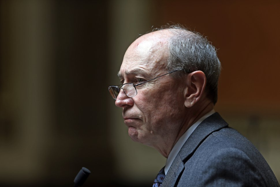 (Rick Bowmer | AP file photo) In this April 18, 2018, file photo, Republican Rep. Merrill Nelson speaks during a special session at the Utah State Capitol in Salt Lake City.