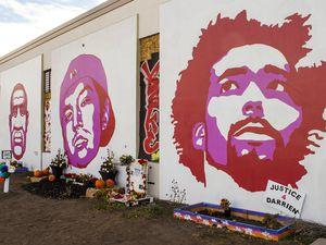 (Rick Egan   The Salt Lake Tribune) social justice murals on exterior walls of the Fleet Block, along 300 West and 800 South in Salt Lake City, as seen Thursday, Nov. 19, 2020.