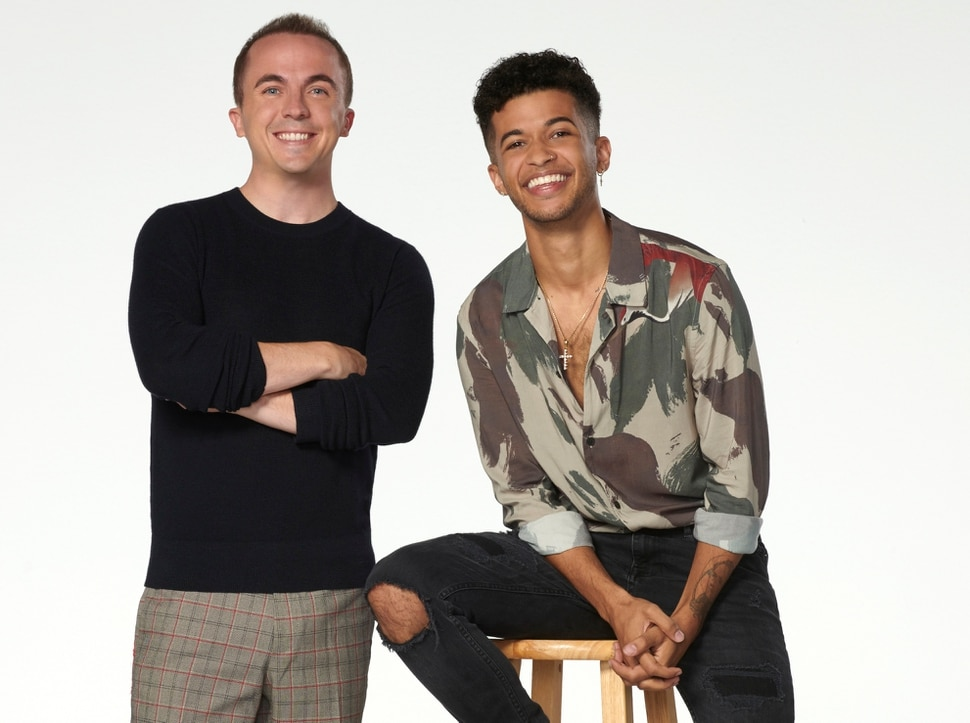 "(Photo courtesy Ed Herrera/ABC) Frankie Muniz and Jordan Fisher are the hosts of ""Dancing with the Stars: Juniors."""