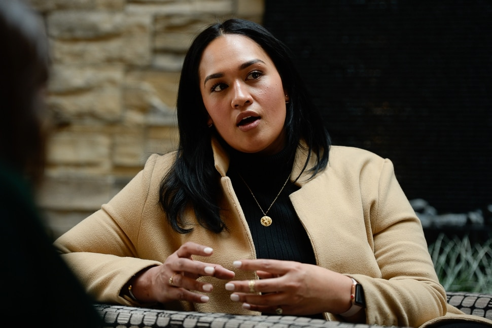 (Francisco Kjolseth | The Salt Lake Tribune) Veronica Pome'e, the first Polynesian woman to be featured in Sports Illustrated's swimsuit edition, visits Utah to speak at the sixth annual National Pacific Island Violence Prevention Conference held in Salt Lake City April 11-13, 2019.