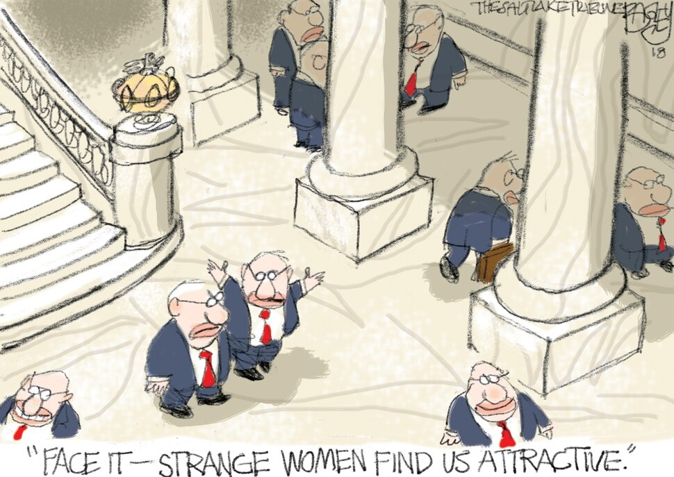 This Pat Bagley cartoon appears in The Salt Lake Tribune on Wednesday, Feb. 14, 2018.
