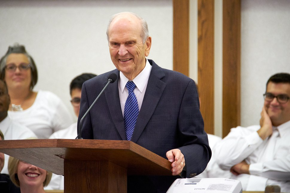 """(Courtesy of The Church of Jesus Christ of Latter-day Saints) """"I know you're excited about the prospects of a temple here in Winnipeg,"""