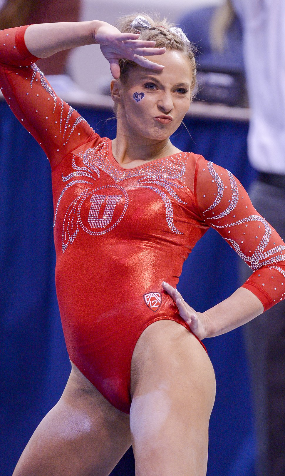 Leah Hogsten | The Salt Lake Tribune Utah's MyKayla Skinner during her floor routine as No. 3 University of Utah gymnastics team meets BYU gymnastics at the Marriot Center, Jan. 10, 2019.