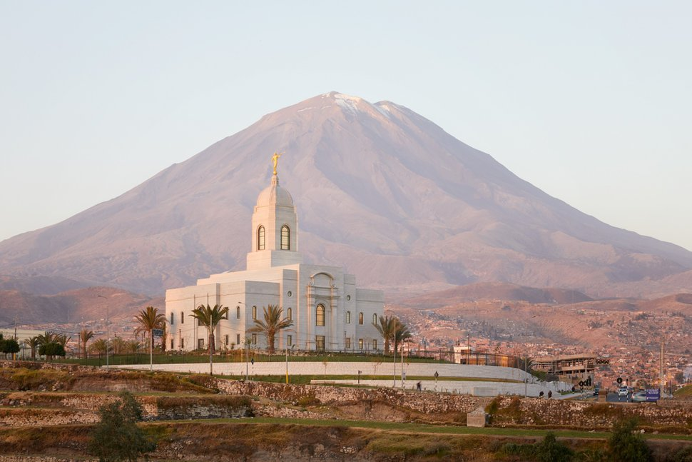 (Photo courtesy of The Church of Jesus Christ of Latter-day Saints) Temple in Arequipa, Peru.