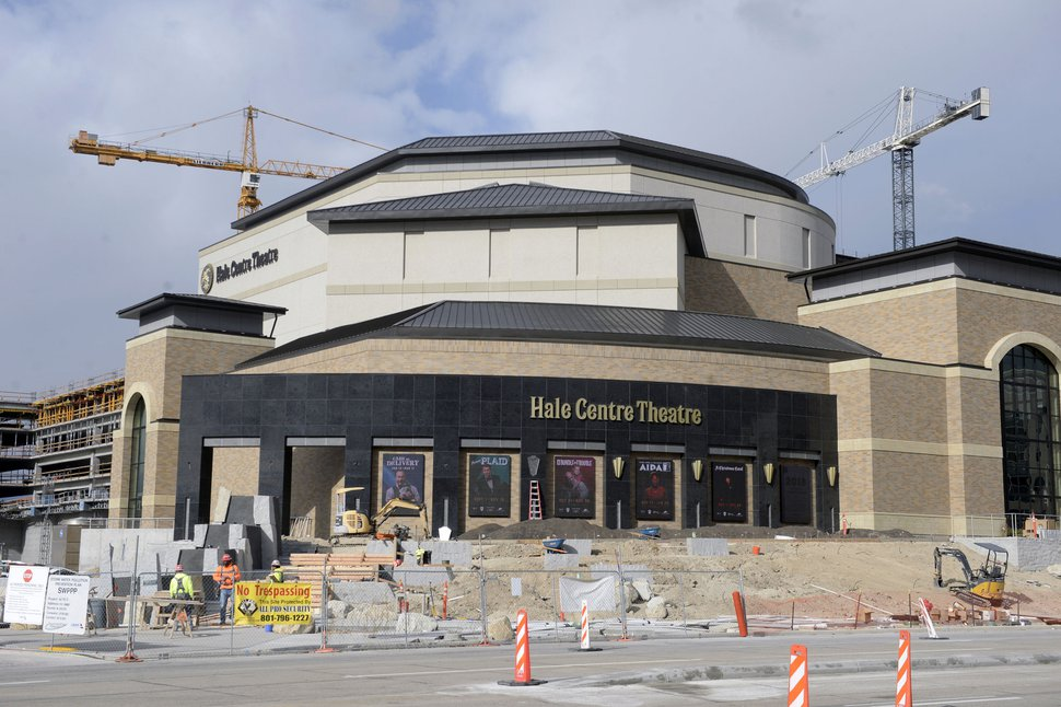 (Al Hartmann | The Salt Lake Tribune) Hale Centre Theatre is racing to finish construction Tuesday, Nov. 7, for its upcoming grand opening in Sandy of