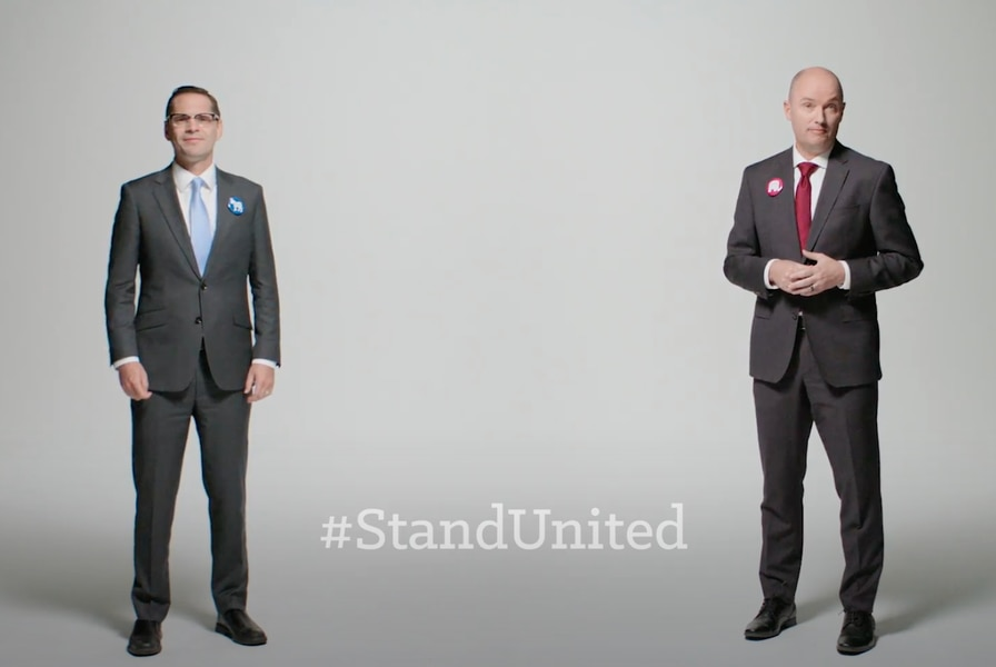 Utah's rivals for governor release ads urging people to respect the outcome of the presidential race