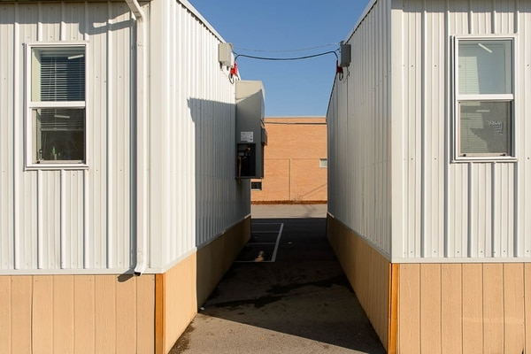 (Trent Nelson | The Salt Lake Tribune) Portable classrooms at Stansbury Elementary in West Valley City, Friday December 8, 2017.