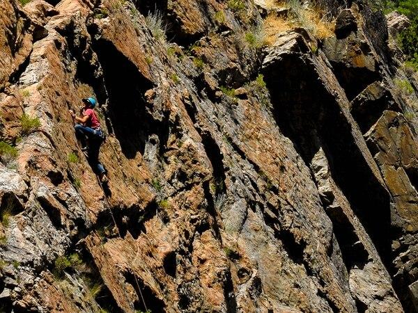 Trent Nelson   The Salt Lake Tribune A rock climber in Big Cottonwood Canyon, Thursday June 29, 2017.