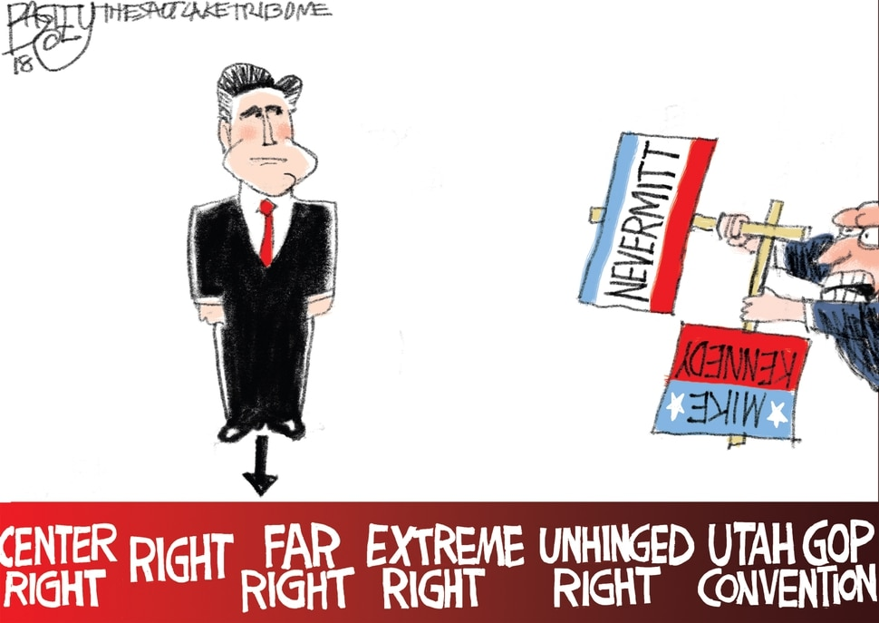 This Pat Bagley cartoon appears in The Salt Lake Tribune on Tuesday, April 24, 2018.