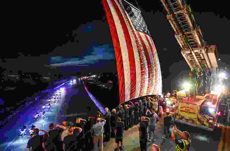 'This is the only way we can honor him': Utahns line streets to say goodbye to fallen Draper firefighter