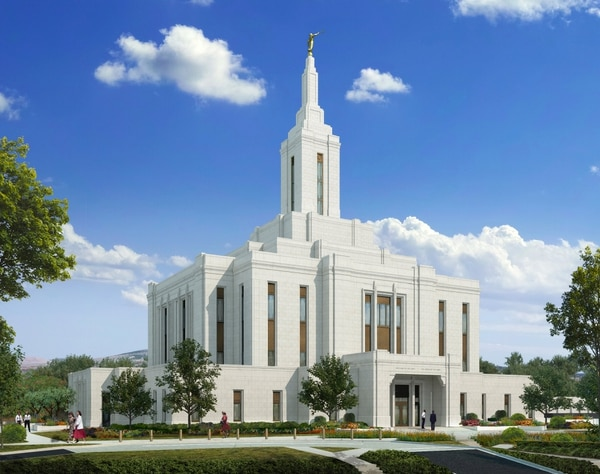 (Courtesy of The Church of Jesus Christ of Latter-day Saints) Rendering of the Pocatello Idaho Temple.
