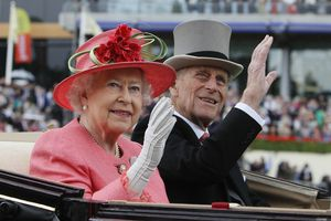 (Alastair Grant | AP) Britain's Queen Elizabeth II with Prince Philip arrive by horse drawn carriage at the Royal Ascot horse race meeting at Ascot, England, June, 16, 2011. Buckingham Palace says Prince Philip, husband of Queen Elizabeth II, has died aged 99.
