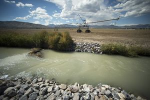 Rick Egan     The Salt Lake Tribune  The Welby water district canal runs through farmland in Bluffdale, Wednesday, September 17, 2014