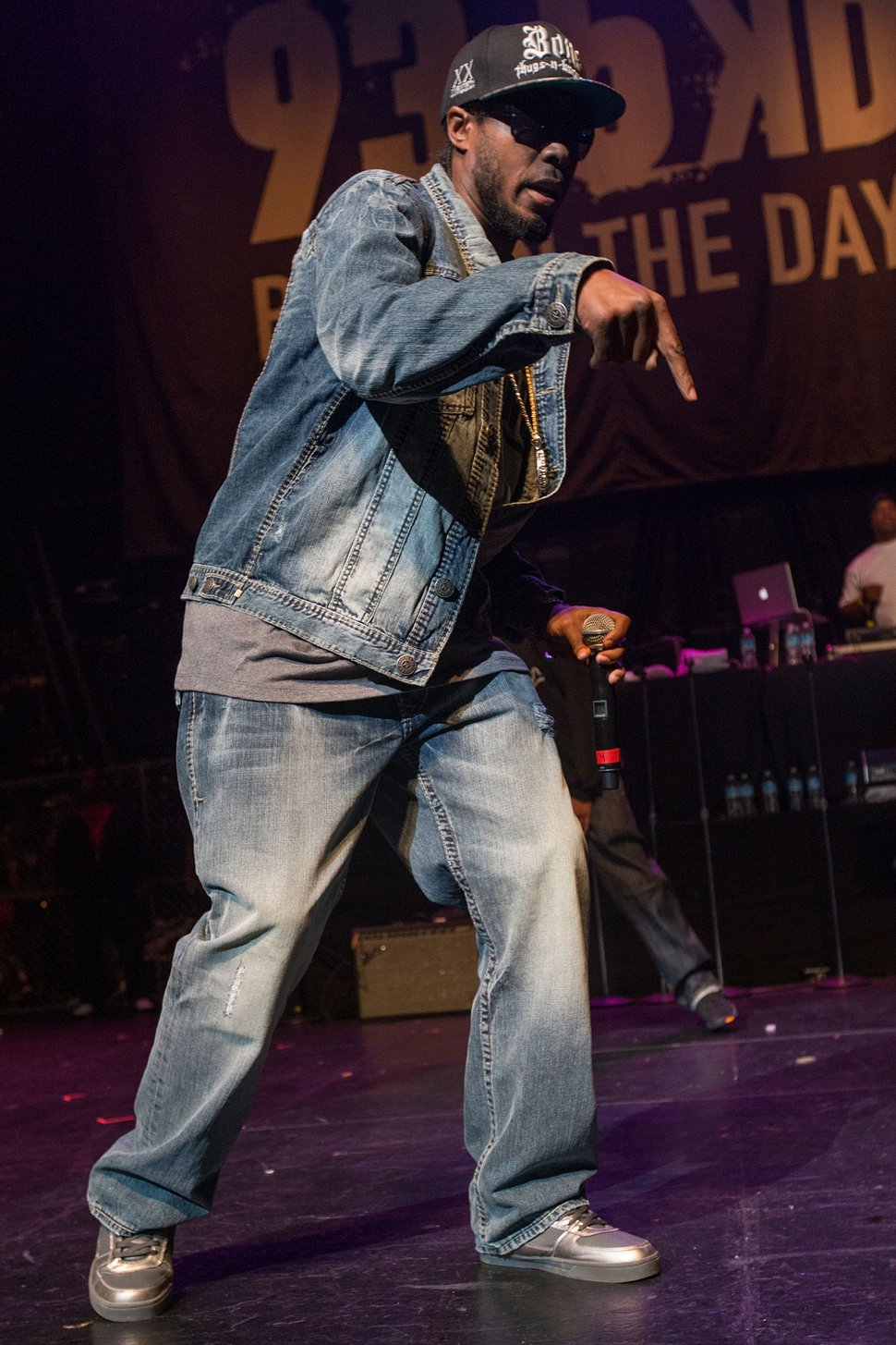 Flesh-n-Bone of Bone Thugs N Harmony performs on stage during the 93.5 K-Day Krush Groove held at the Gibson Amphitheatre on April 20, 2013 in Universal City, California. (Photo by Paul A. Hebert/Invision/AP)