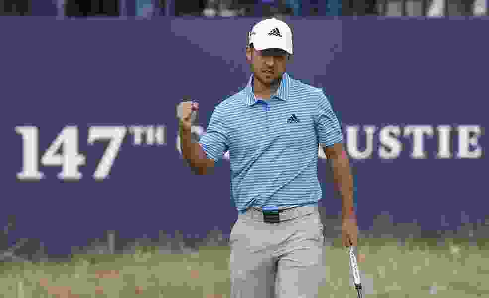 Xander Schauffele in front at BMW by 2 shots while Tiger Woods falls back