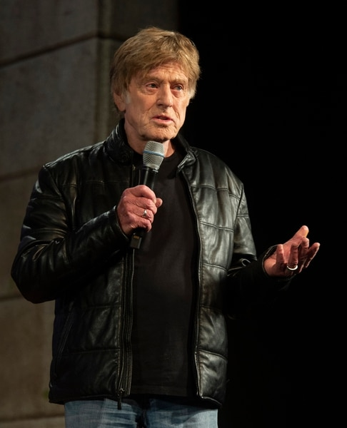 (Rick Egan | The Salt Lake Tribune) Robert Redford says a few words at the opening news conference for the 2019 Sundance Film Festival at the Egyptian Theatre in Park CIty, Thursday, Jan. 24, 2019.