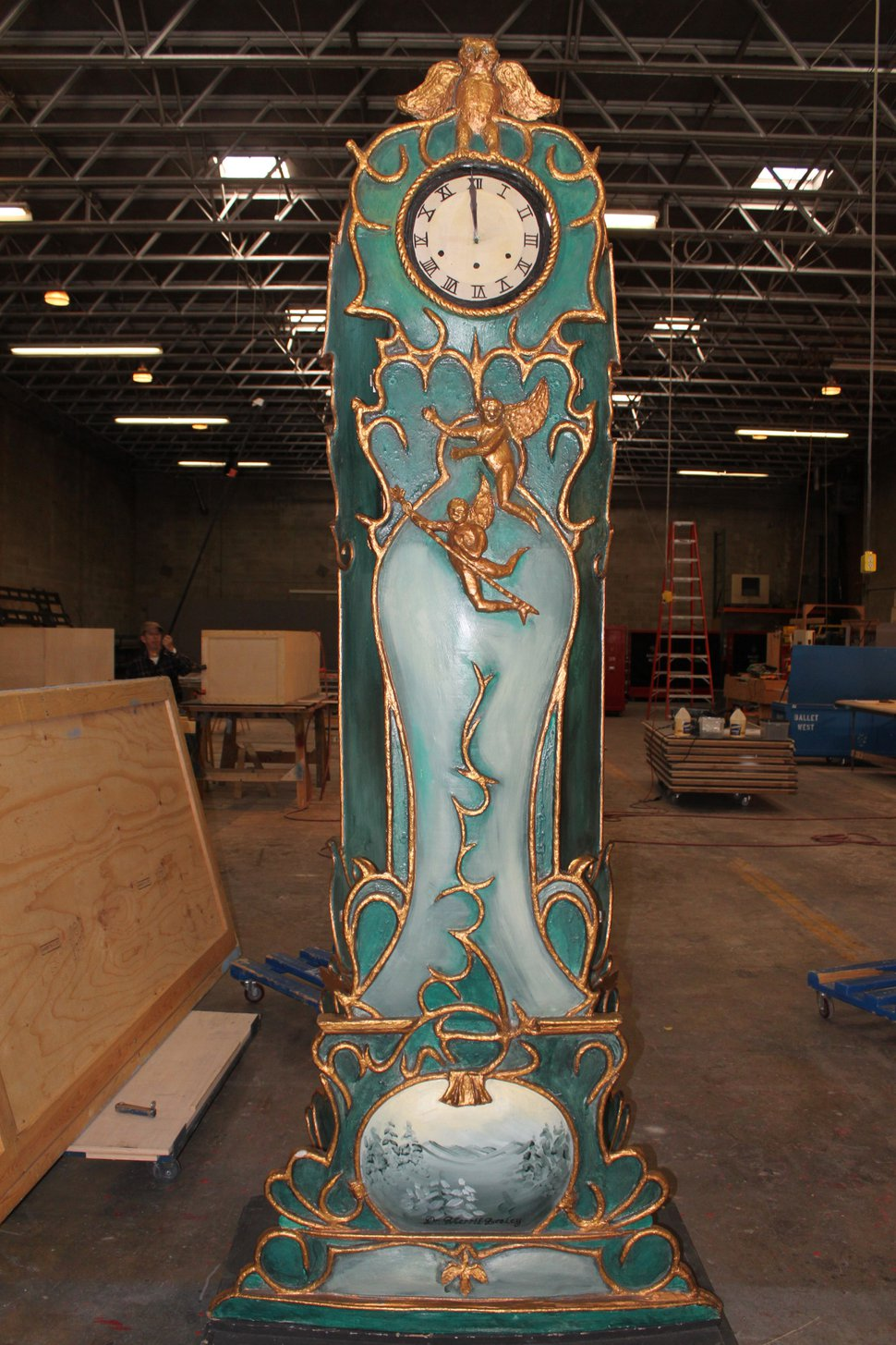 (Courtesy photo) The Stahlbaums' grandfather clock is believed to be the only set piece still in rotation from Ballet West's original production of