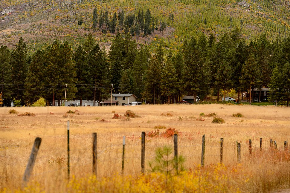 (Trent Nelson | The Salt Lake Tribune) Homes in the natural setting of Pinesdale, Mont., Saturday September 30, 2017.