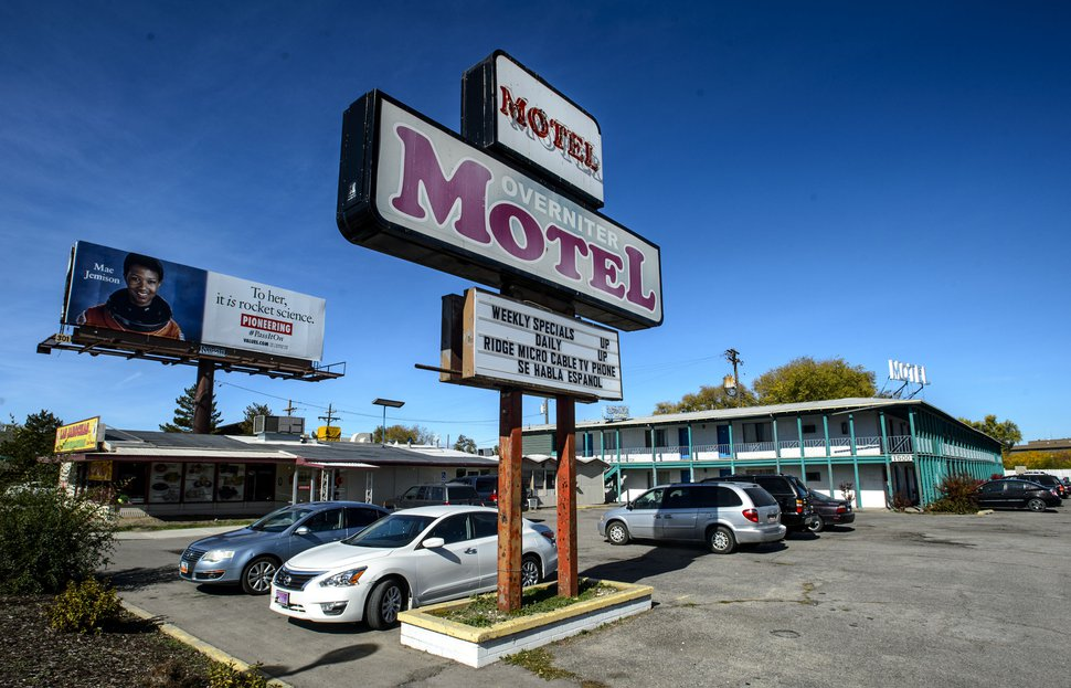 (Steve Griffin | Tribune file photo) The Overniter Motel at 1500 west North Temple in Salt Lake City, as seen on Monday October 23, 2017. The city's Redevelopment Agency has selected Chicago-area developer Brinshore to convert the motel site into a residential complex.