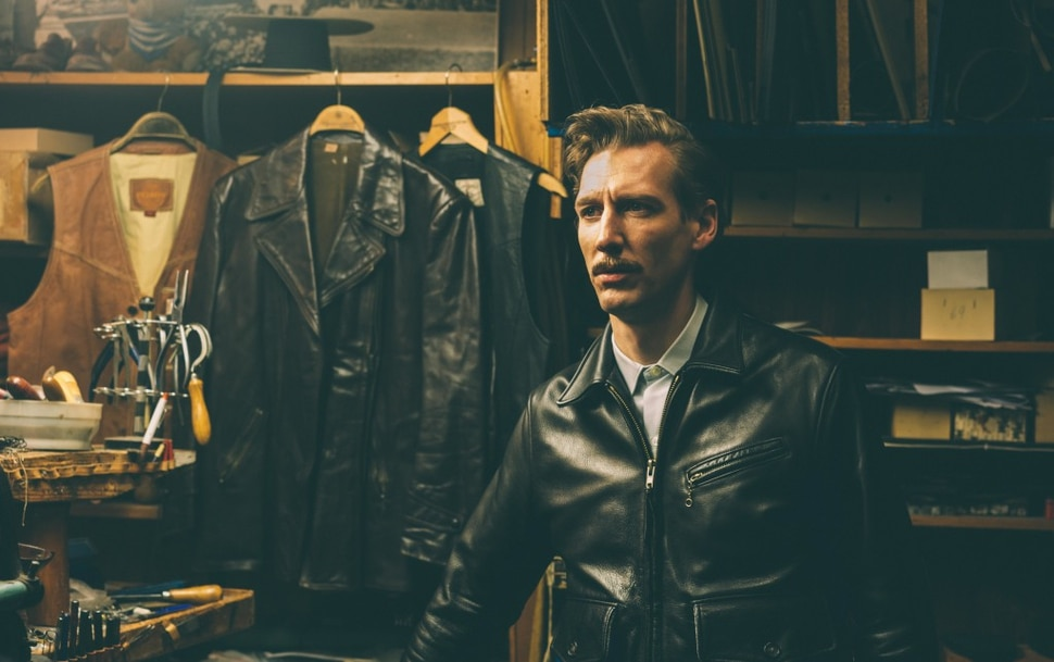 (Josef Persson | courtesy Kino Lorber Films) Pekka Strang plays Touko Laaksonen, the Finnish artist whose drawings inspired the gay leather lifestyle, in the biographical drama Tom of Finland.