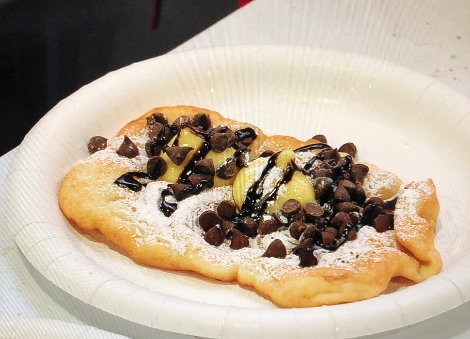 (Photo courtesy of Festival of Trees) A deep-fried scone with toppings at Festival of Trees.