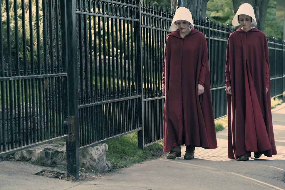George Kraychyk | Courtesy of Hulu Elisabeth Moss and Alexis Bledel star in ÒThe Handmaid's Tale.Ó