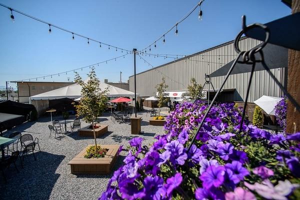 (Trent Nelson | The Salt Lake Tribune) The Garten, a new German-style outdoor beer/food venue in Salt Lake City, Sunday Sept. 2, 2018.
