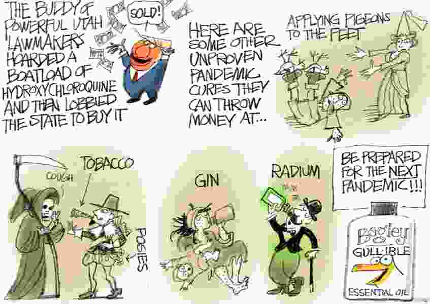 Bagley Cartoon: Folk Remedies for the Common Pandemic