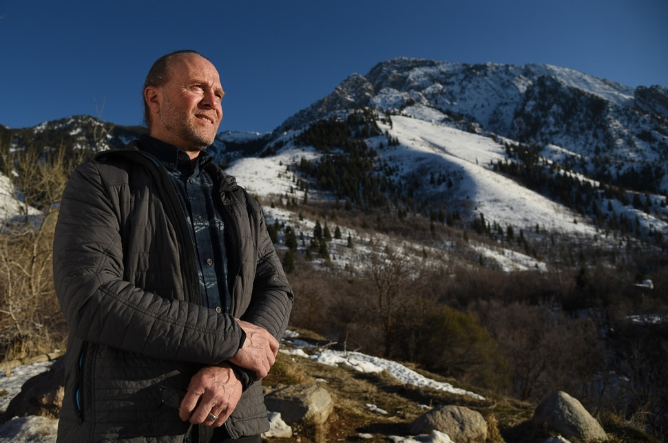 (Francisco Kjolseth | The Salt Lake Tribune) John Knoblock, Bonneville Shoreline Trail Committee chair and longtime resident in the Mount Olympus neighborhood, below, has been trying to find ways to connect the Bonneville Shoreline trail. The proposed alignment for the trail crosses designated wilderness in several spots along the Wasatch foothills in Salt Lake County. A forthcoming bill from Rep. John Curtis, R-Utah, would adjust wilderness boundaries so that the trail could accommodate mountain bikes, which are not allowed in wilderness areas.