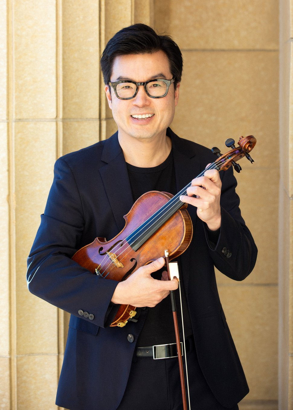 (Photo courtesy of David Park) David Park, the assistant concertmaster of the Utah Symphony, is a classical music expert and a connoisseur of wine.