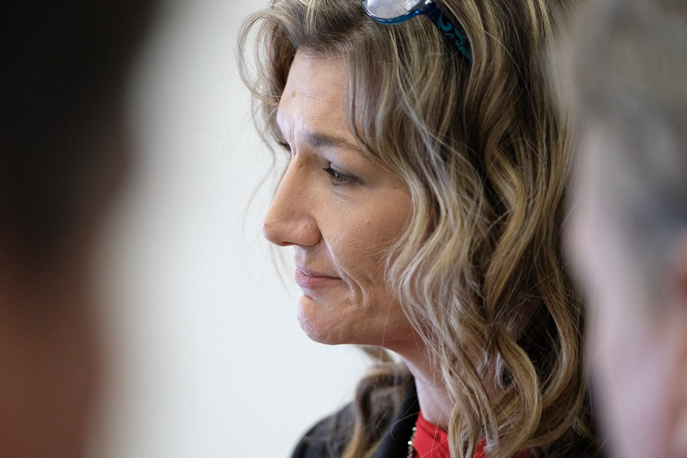 (Francisco Kjolseth | Tribune file photo) Christine Stenquist, Executive Director of TRUCE Utah, which looks for responsible use and education of cannabis joins in the cannabis conversation following a House Health and Human Services standing committee at the Utah Capitol on Wednesday, Jan. 31, 2018, for two cannabis bills, HB197 and HB195.