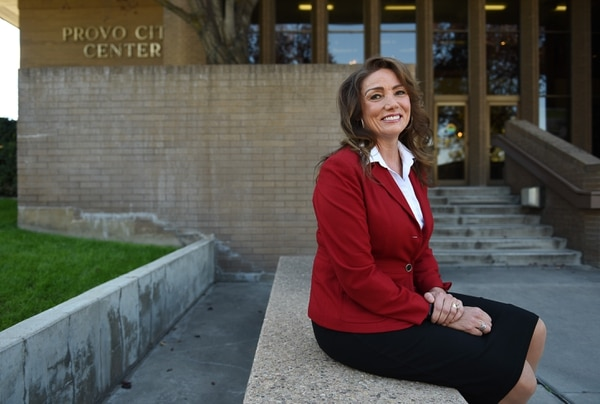 (Francisco Kjolseth | The Salt Lake Tribune) Michelle Kaufusi will become Provo City's first female mayor in its history on Tuesday. Utah County will make the biggest leaps in gender equality across the Wasatch Front come January, with a 15 percent increase of female mayoral leadership.