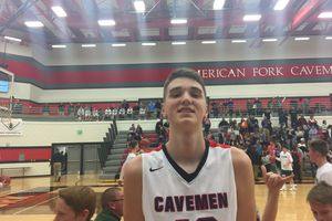 (Talon Chappell     For The Tribune)  Isaac Johnson, American Fork High.